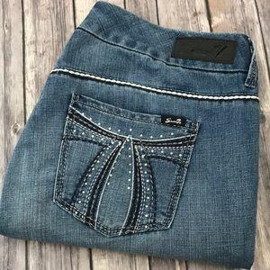 Seven7 Jeans Rocker Slim Boot Cut 18 x 29 Short